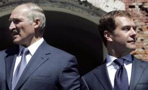 А. Лукашенко и Д. Медведев