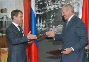 Д. Медведев и А. Лукашенко