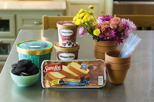 Весенний десерт – цветы в горшочке