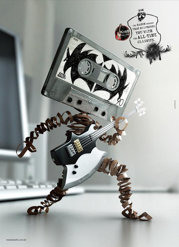 Креативные постеры для радиостанции Kiss FM