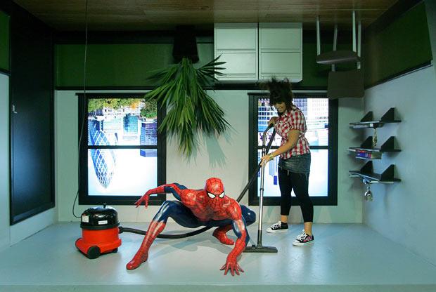 Супергерои в Лондонском музее  восковых фигур Мадам Тюссо