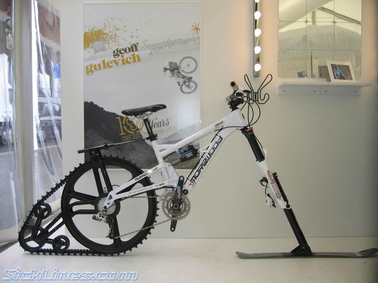 Велосипед на лыже