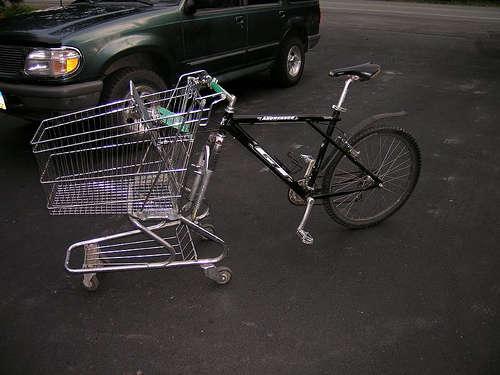 Велосипеда корзина