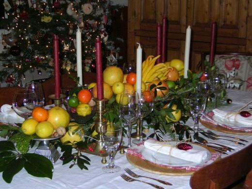 Коротко о сервировке новогоднего стола.