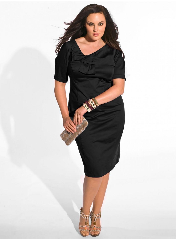 Мода для полных платья фото 1