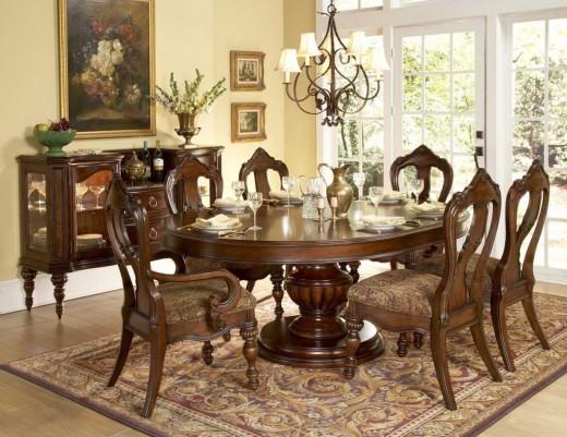 Обеденные округлые столы для кухни в стиле фен шуй