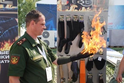 ГК Тоталл представила огнеупорные перчатки на Международной выставке «День инноваций Минобороны»