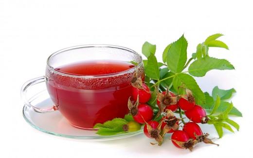 Чай с шиповником - эффективное средство при простуде!