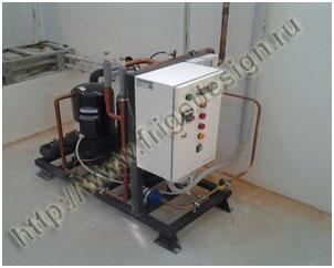Холодильная установка Фригодизайн в камере охлаждения сырья для производства гематогена