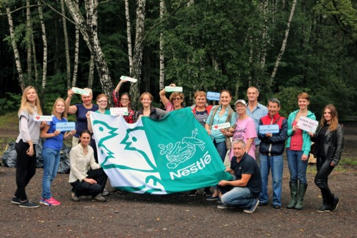 Волонтеры компании «Нестле» сделали Люберецкий карьер чище