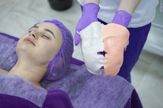 Картинки по запросу Альгинатная маска ARAVIA Professional до после