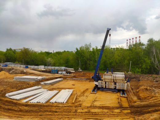 ГК «Инград» приступила к бесшумной установке свай в рамках строительства ЖК «КутузовGRAD II» на западе Москвы