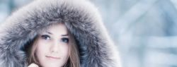 Красивая зима и красивое лицо