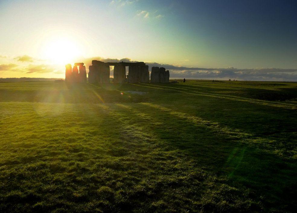 Закат в Уилтшире, Великобритания