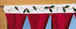 Как украсить шторы к Новому году?