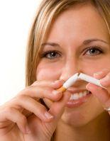 Избавиться от сигарет женщине поможет ее кротость