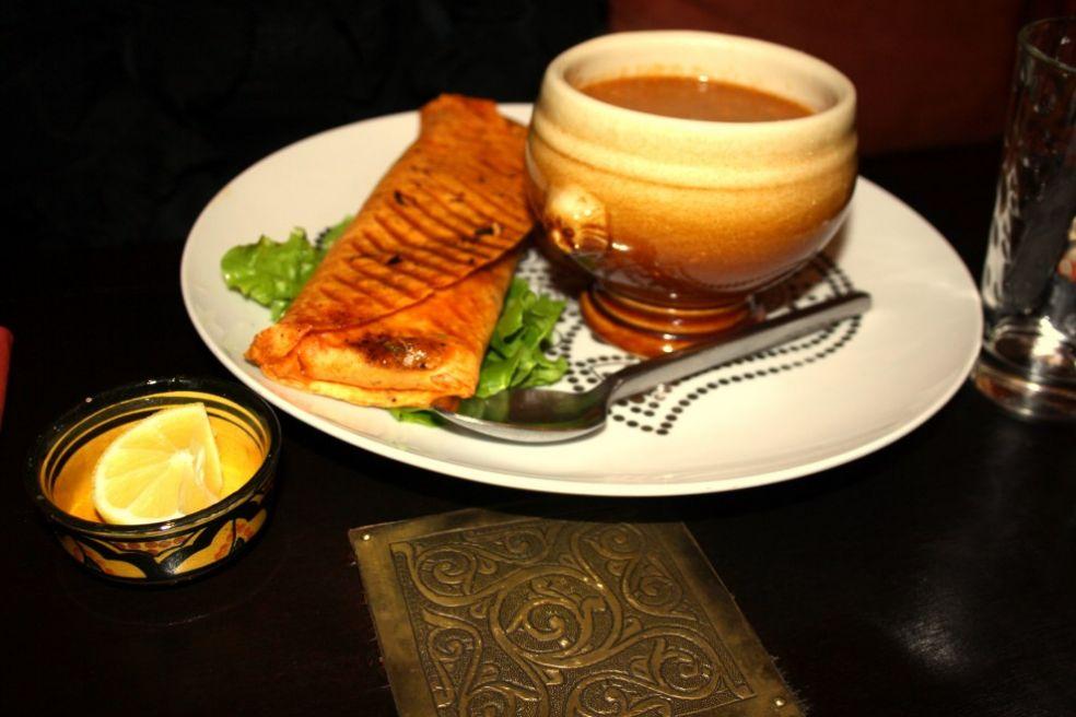 Марокканский суп с галетами