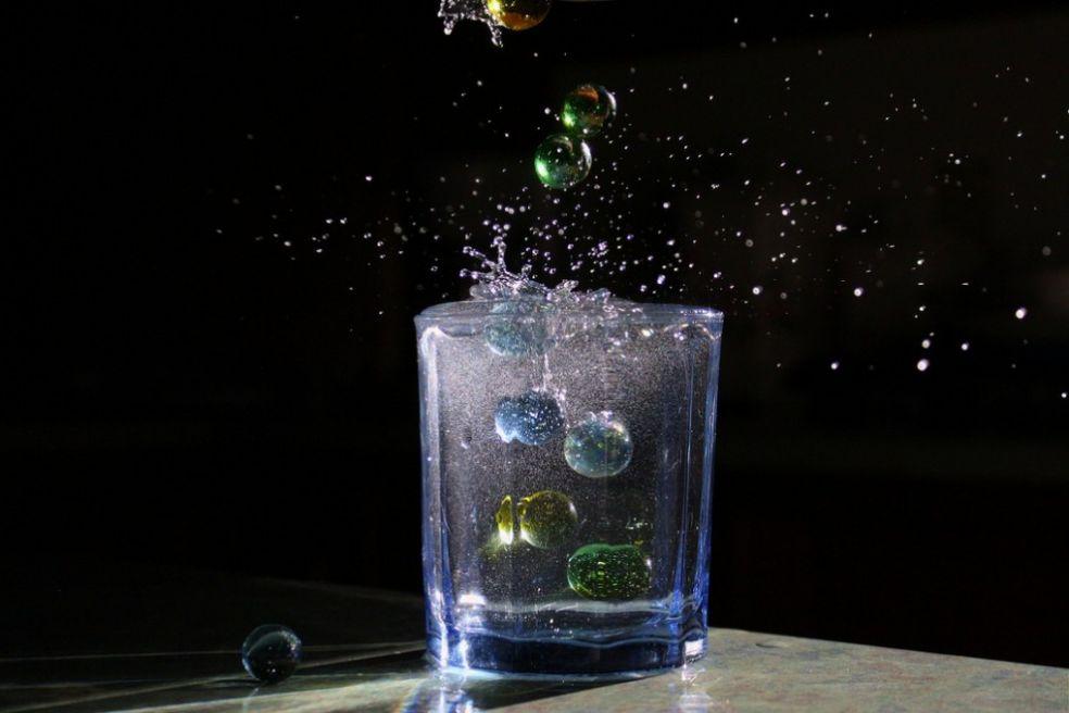Марблс в стакане воды