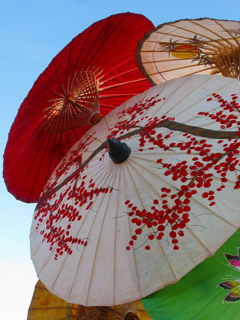 Зонтики в китайском стиле