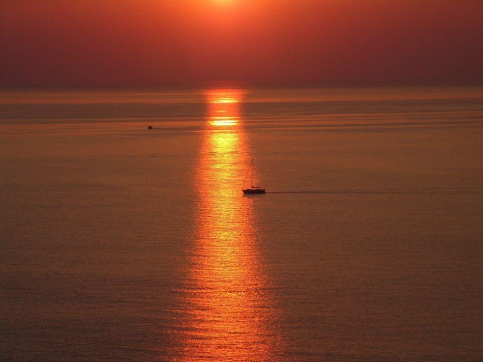 Вид на море из деревни Агиос Иоаннис, гора Пелион