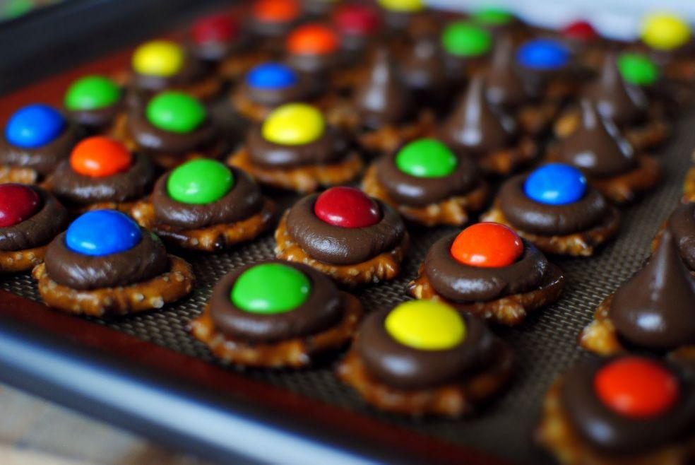 Радужные печеньки фото-рецепт