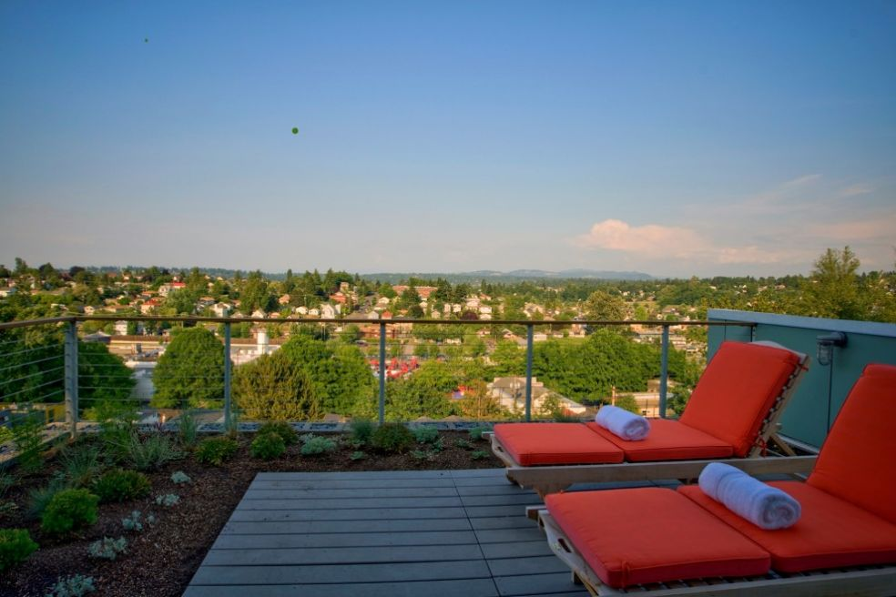 Зеленая крыша в Сиэтле