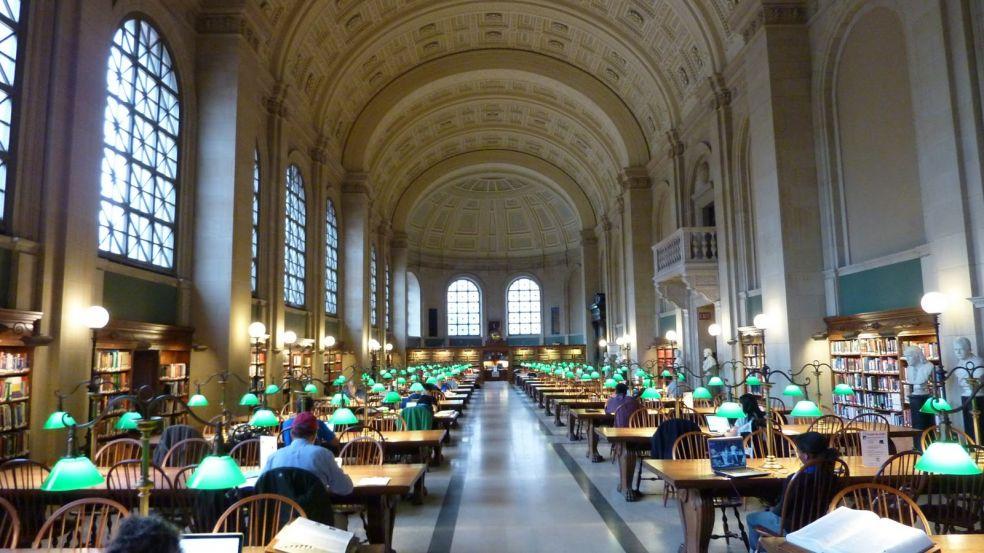 Бостонская Публичная библиотека – Бостон, США