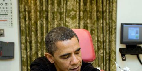Обама привился от A/H1N1